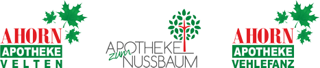 Ahorn Apotheke Velten | Ahorn Apotheke Vehlefanz | Apotheke zum Nussbaum Schwante Logo