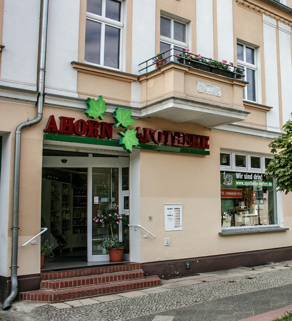 Online-Angebote Ahorn Apotheke Velten